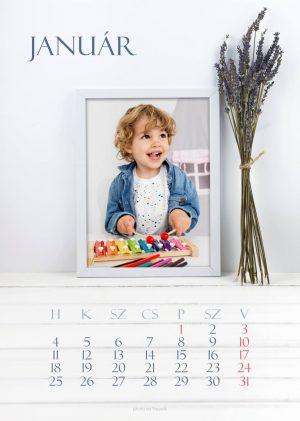 Levendula 5 asztali naptár
