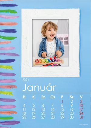Tollas naptár kék