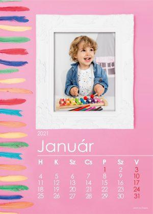 Tollas naptár rózsaszín