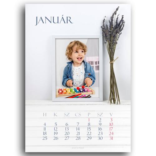 Egyedi fényképes naptár
